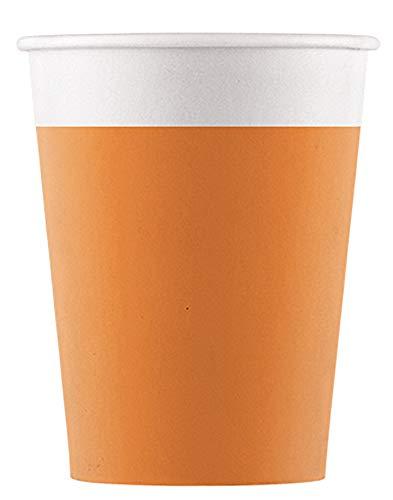 Procos 90882P - Vasos de papel compostable, color naranja