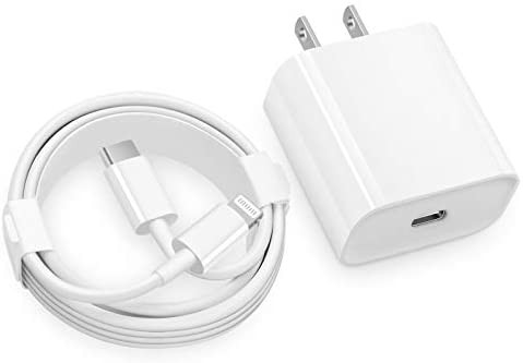 iPhone Fast Charger MFi Certified 20W USB C Fast Wall Charger with 6FT C to Lightning Cable product image