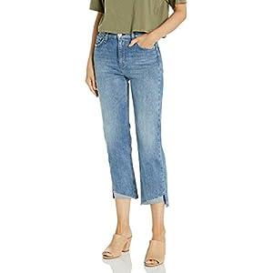 HUDSON Women's Remi High Rise Straight Leg Raw Hem Crop Jean