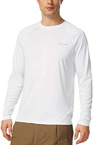 バリーフ(Baleaf) スポーツシャツ メンズ 長袖 UPF 50+ UVカット99% 吸汗速乾 蒸れない ストレッチ アウトドア 日焼け防止 Tシャツ ジョギング 登山 マラソン トップス アンダーウェア 紫外線 日焼け防止 ロングスリーブ トレーニン