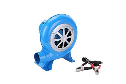 SY-Home Ventilador Eléctrico, Fan De La Barbacoa De 12V Fan De Cocinar De La Comida Campestre Al Aire Libre con El Clip De Batería Portátil,40W