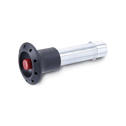 Ganter Normelemente | Steckbolzen mit Axialsicherung (Sperrklinke) - GN 114.2-8-16 | Bolzendurchmesser: 8mm | Stahl | verzinkt, blau passiviert | 1 Stück