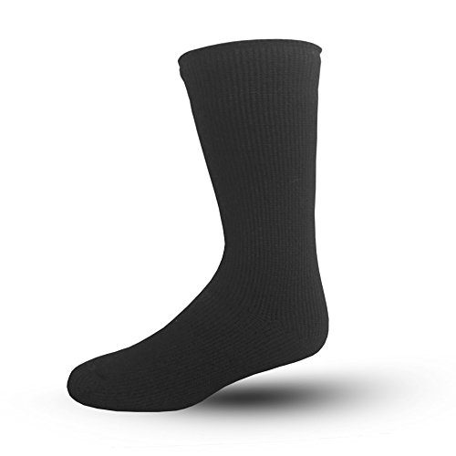 Blue Flame Thermal Socks, Women's US Shoe Size 4-10.5 (Black) 9511-2