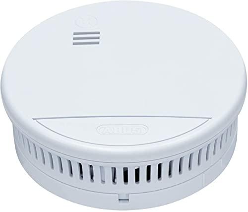 ABUS Rauchmelder RWM90 5er Set geeignet für Wohnräume und Kellerräume - 5 Jahre Batterie - 85db Alarmlautstärke - weiß