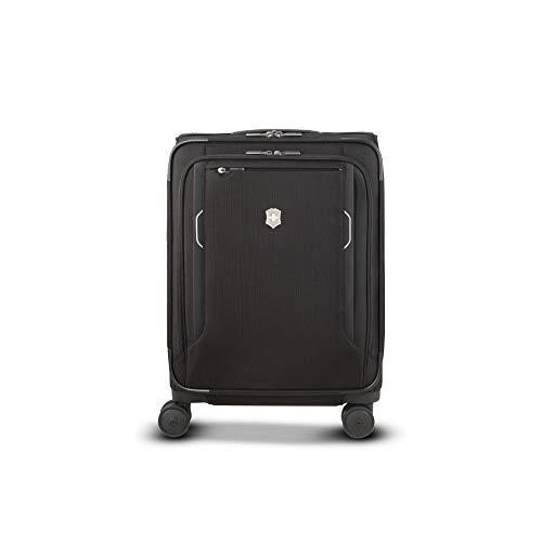 Victorinox Werks Traveler 6.0 Softside Global Carry-On - Valigia Trolley Bagaglio a Mano Espandibile - Leggero 4 Ruote - 20x40x55cm - 34l - 3,2Kg - Nero