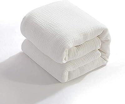 AIFY ガーゼケット 6重ガーゼ シングル 綿100% 洗える やわらか 夏 肌掛け布団 冷房対策 タオルケット 丸洗いOK 140×190cm ホワイト