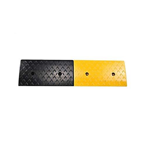 Buffer-Feng 4-6 cm pendel-pad, drempelrampe voor Domestisch gebruik buitenshuis, opvallende zwarte en gele helling