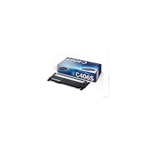 Samsung CLT-C406S ST984A Cartuccia Toner Standard Originale, 1.000 Pagine, Compatibile con Samsung Laserjet Serie CLP 360, 365 e CLX 3305, Serie Xpress C410, C430 e C460, Ciano