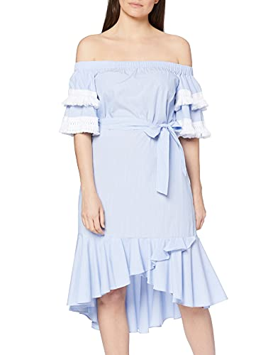 Koton Damska letnia sukienka z frędzlami na rękawach sukienka imprezowa