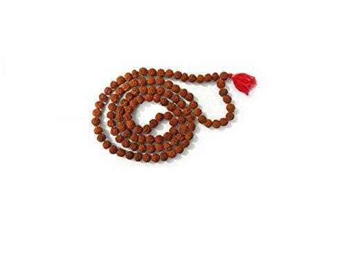 Rudraksha Japa Mala - Collar de oraciones de alta calidad con 108 + 1 cuentas