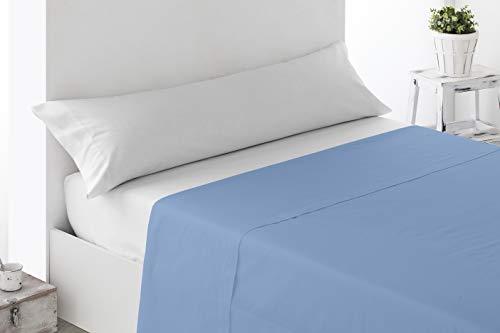 Miracle Home Sábana Encimera Ajustable, algodón 50% poliéster, Celeste, 90 cm