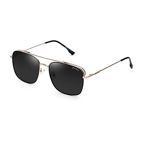 XINMAN Gafas De Sol A Prueba De Viento De Moda Gafas De Sol De Metal Polarizadas Espejo De Sombrilla Anti-UV para Mujer