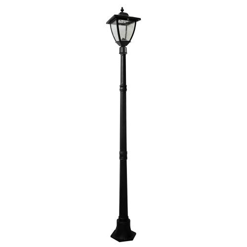 Nature Power 23106 74-Inch Bayport Solar Charged Lamp Post with Super Bright Natural White LEDs, Black