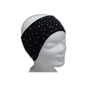Stirnband mit vielen Marken-Glitzersteinchen, z.B. Eiskunstlauf, 95% Baumwolle, 5% Elasthan