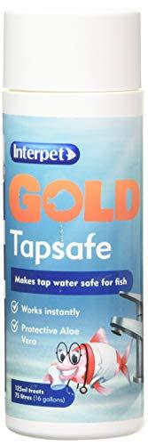 Interpet Gold Tapsafe pour Bols, Aquariums, Aquariums, Rend l'eau de Robinet sûre 125 ML