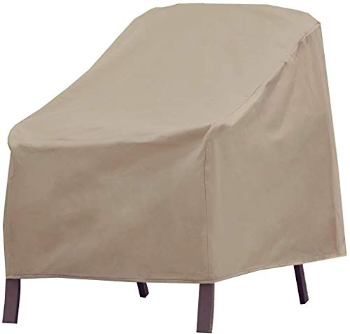 Modern Leisure 3134D Basics Outdoor Patio Chair Cover - Water Resistant (33 W x 34 D x 31 H inches), Khaki/Fossil