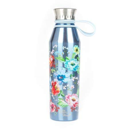 The Pioneer Woman 18oz Double Wall Vacuum Insulated Blue Stainless Steel Water Bottle