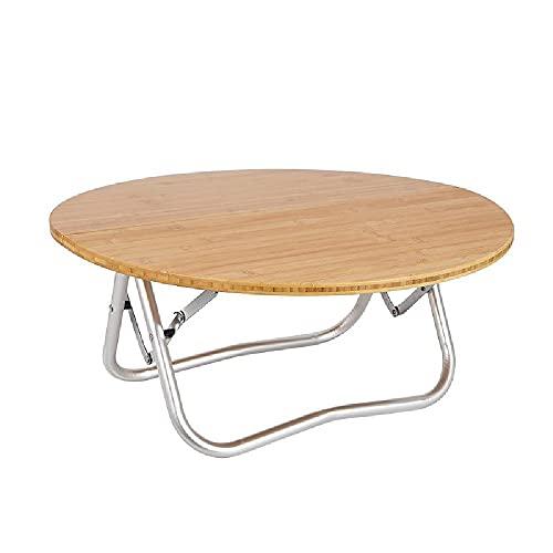 XIAOJU Mesa de Picnic Plegable - Escritorio Plegable pequeño - Ligero portátil - para Camping, jardín, picnics, Patios, Fiestas, bufés, barbacoas,Round Table