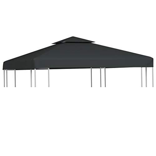 CFG Spare cover for gazebo Pavilion roof Replacement roof 310 g / m2 3 x 3 m for marquee garden tent Shelters & Gazebos