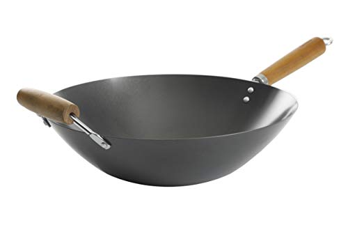 14 carbon steel flat bottom wok - 2
