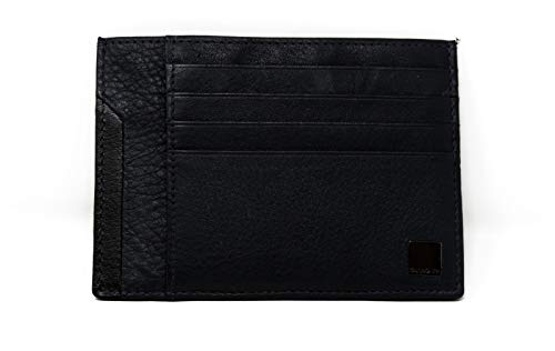 Samsonite, cartera para tarjetas de crédito y billetes plano, de piel auténtica, línea SENZIL SLG, color azul