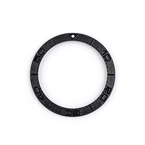 ZRNG 38-30.8mm Inserción de Bronce Fit para 41 mm Fit para Watch Omega Bezel Seamaster 300 Reloj Reloj Relojes Reemplazar Accesorios Piezas Oro (Color : Black)