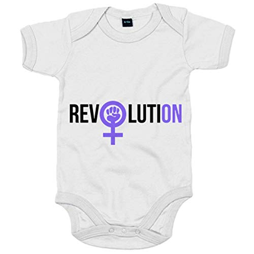 Body bebé revolución feminista Revolution - Blanco, 6-12 meses
