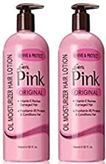 Luster's Pink Oil Moisturizer Hair Lotion, 32 Ounce (Packaging may vary) (2 Pack)