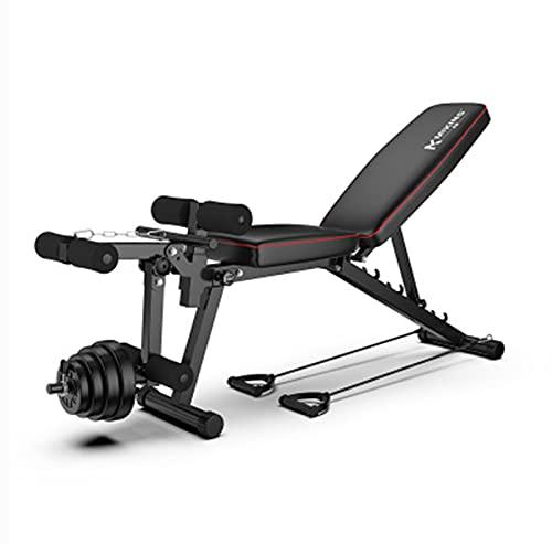 Banco de pesas, banco ajustable, banco de pesas multifuncional, banco de pesas plegable, banco de pesas para casa y gimnasio, carga máxima 200 kg