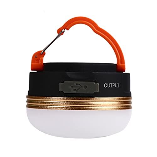 Milageto Linterna LED Recargable para Acampar y emergencias - Linterna de Campamento de Uso General Compacto para Excursionismo mochileros - Naranja