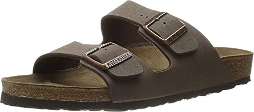 Birkenstock Arizona - Birkibuc (Unisex) Mocha Birkibuc 38 (US Men's 5-5.5, US Women's 7-7.5) Narrow
