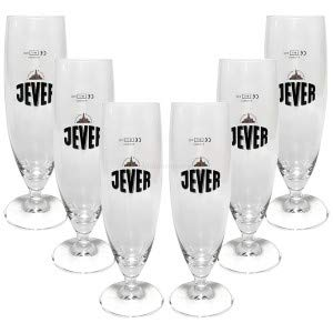 Jever Bierglas Bierpokal Glas Gläser-Set - 6x Pilstulpen 0,3l geeicht