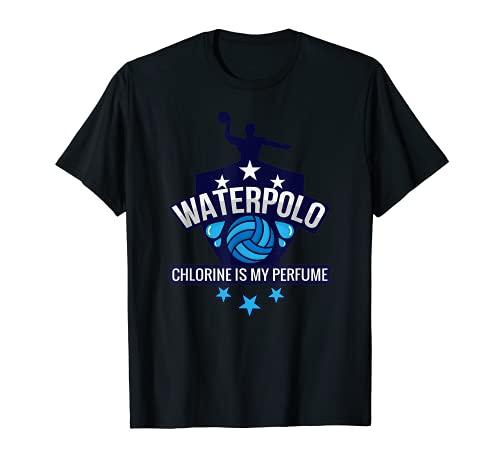 Water Polo Chlorine Is My Perfume Funny Swim Sport Camiseta