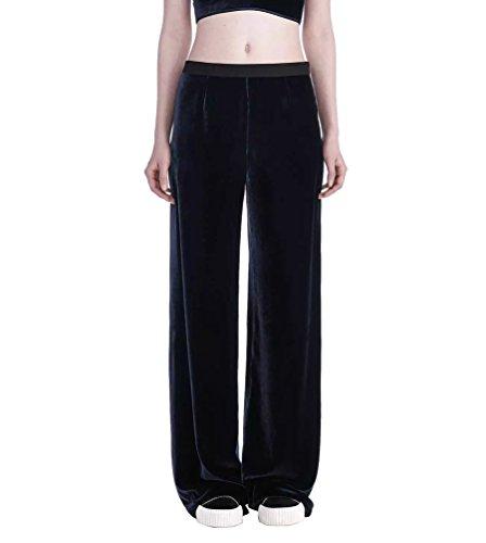 WanYang Pantaloni Casuali Larghi delle Donne Pantaloni in Cashmere in Pelle