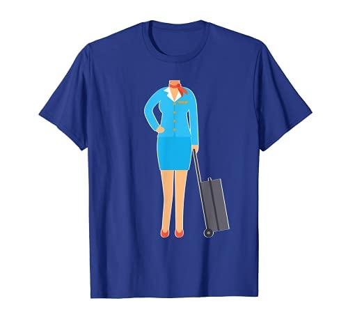 Disfraz de asistente de vuelo perezoso DIY azafata de Halloween Camiseta