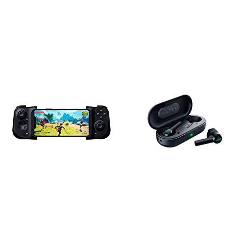 Razer Kishi Controller for iPhone + Hammerhead True Wireless Bluetooth Earbuds Mobile Gaming Bundle
