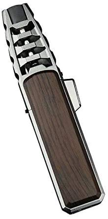 Turbine Torcher - Torch Lighter Jet Flame Refillable Butane Lighter Windproof Lighter with Punch for Camping BBQ Kitchen- Butane Not Included,Gift Box (Brown)