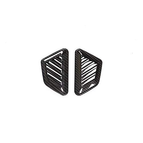 HYSJLS Marco de salida de aire lateral para salpicadero de coche, ABS cromado, fibra de carbono para Mercedes Benz Clase G W463 2019 2020, accesorios de coche (nombre del color: fibra de carbono)
