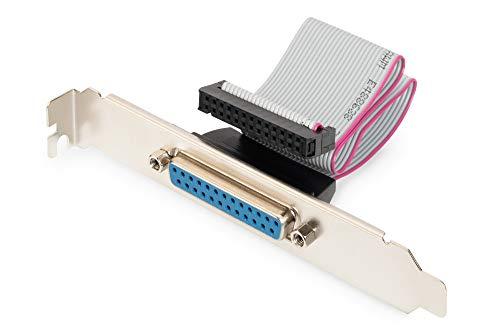 DIGITUS Prallel-Port Slotblech - Adapter-Kabel - IDC 26-Pin zu D-Sub 25 - Buchse zu Buchse - Flachband-Kabel