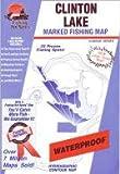 Clinton Lake, Douglas County, Fishing Map (Kansas Fishing Series, M384)