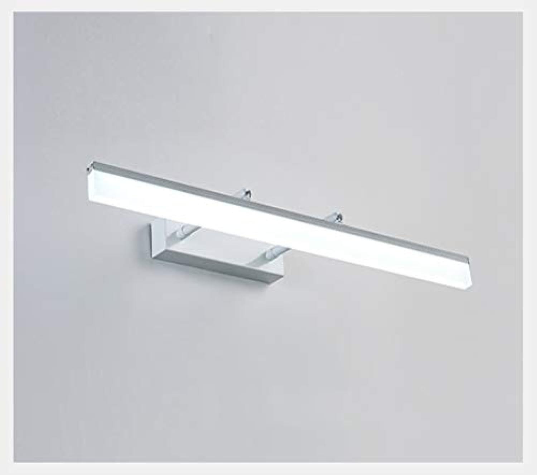 YU-H Lighting Led-spiegel Scheinwerfer, Make-Up Lampe Bad Badezimmerspiegelschranklampe Nordic Moderne Minimalistische Wandleuchte Wasserdichte Anti-fog Spiegellampe (Farbe   Wei-40cm)