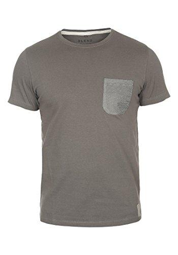 BLEND 20701255ME - Camiseta para Hombre, tamaño:M;color:Smoked Grey (75004)