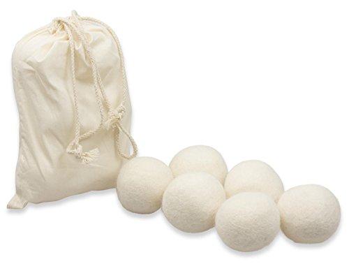 TrocknerWunder Trocknerbälle & Trocknerkugeln aus 100% echter Neuseeland-Wolle, Trocknerbälle für den Trockner - SOFT inkl. Leinensäckchen