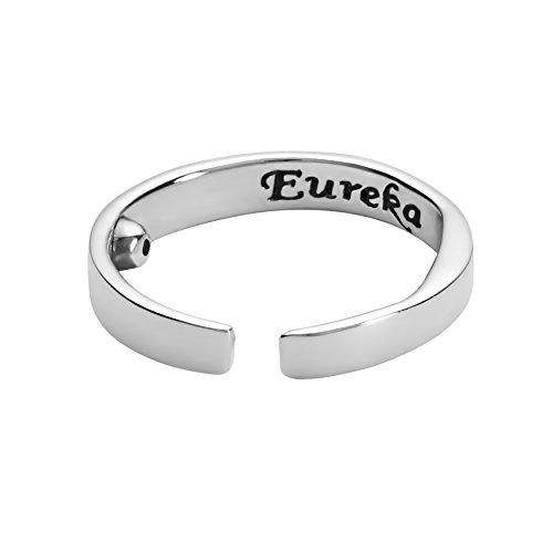 Eureka Akurpressur Ring Sterling Silber-925 gegen Schnarchen (Large)