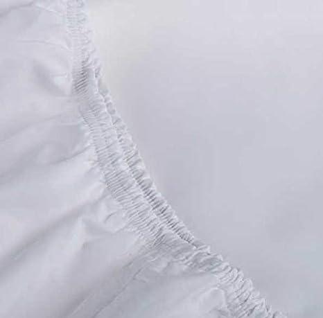 Sabana Bajera Ajustable- Blanca - 100% algodón percal 200 Hilos - Fabricado en EU (Cama de 150)