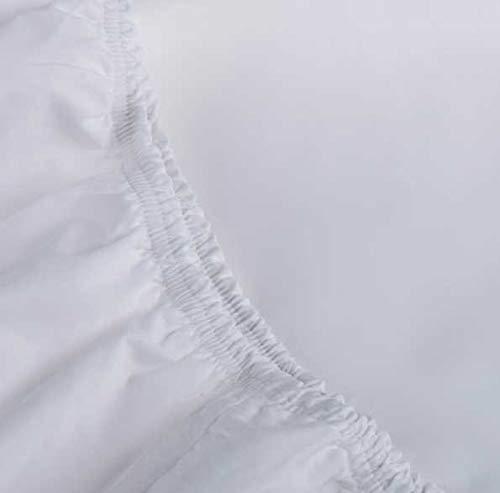 Sabana Bajera Ajustable- Blanca - 100% algodón percal 200 Hilos - Fabricado en EU (Cama de 180)