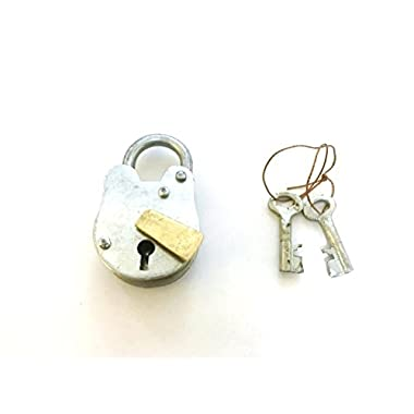 SAILORS SPECIAL IOTC Metal Brass Lock & Keys 3  H,1  W -