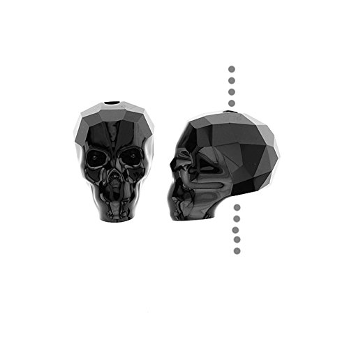 SWAROVSKI ELEMENTS Crystal Beads, #5750 Skull, 13mm 1 Piece, Jet