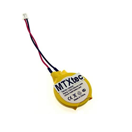 MTXtec Batterie BIOS, 3V, 220mAh pour Clevo M660JE