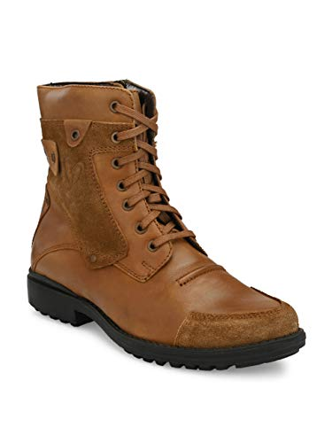 Delize Black/Brown/tan Chelsea high Ankle Party Boots for Men's (8, Tan)